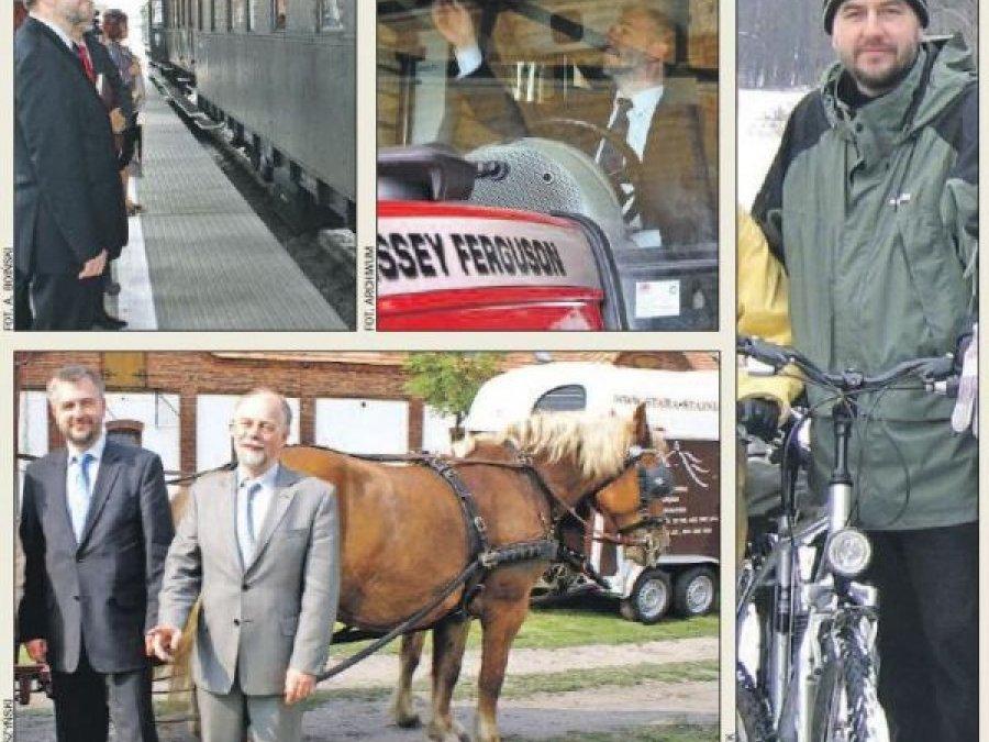 Rowerem, koniem, traktorem, pociągiem...