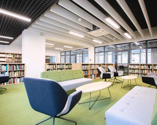 siedziba Wojewódzkiej Biblioteki Publicznej i Centrum Animacji Kultury przy ul. Prusa 3 w Poznaniu